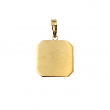 Yellow gold tag pendant AGPL02-03
