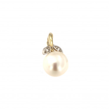 Yellow gold pearl pendant AGPRL04-01