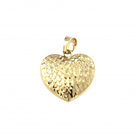 Yellow gold heart pendant AGS01-33