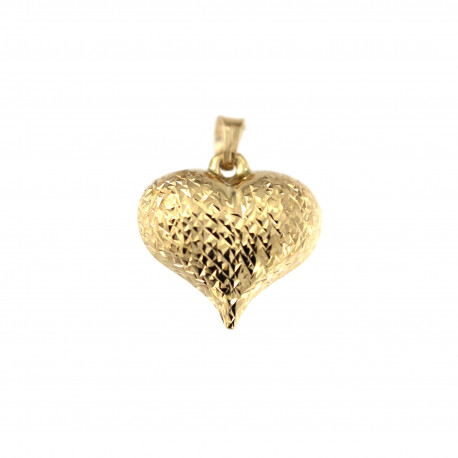 Yellow gold heart pendant AGS01-34