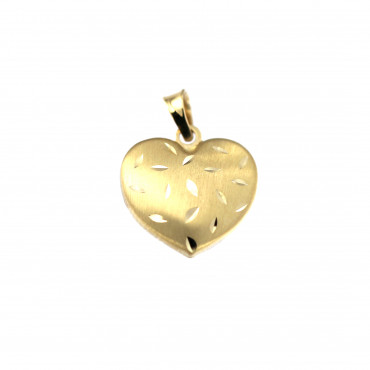 Yellow gold heart pendant AGS01-35