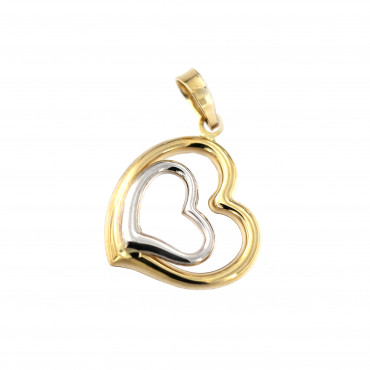 Yellow gold heart pendant AGS01-37