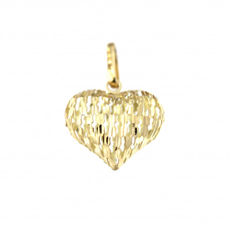 Yellow gold heart pendant AGS01-38