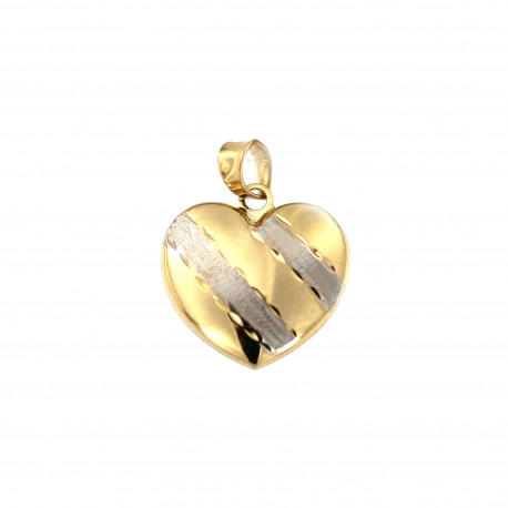 Yellow gold heart pendant AGS01-39