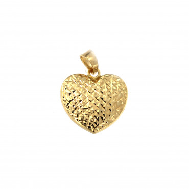 Yellow gold heart pendant AGS01-40
