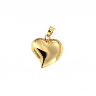 Yellow gold heart pendant AGS01-41