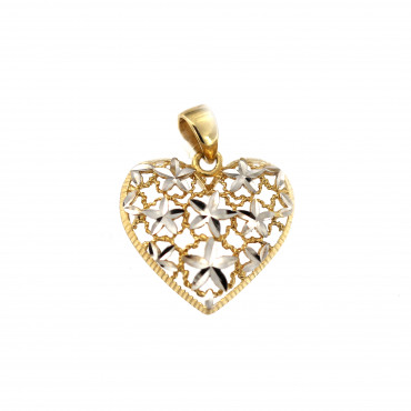 Yellow gold heart pendant AGS01-42
