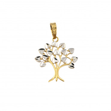 Yellow gold tree of life pendant AGT02-03