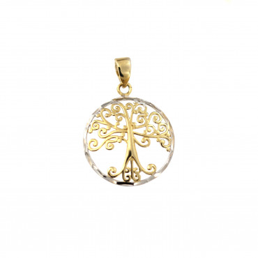 Yellow gold tree of life pendant AGT03-01
