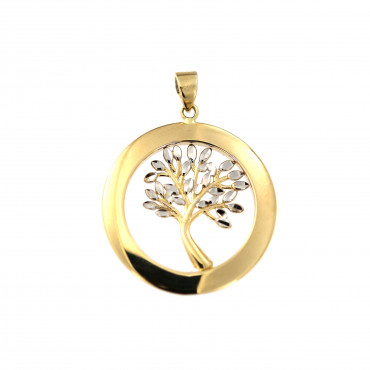 Yellow gold tree of life pendant AGT03-03