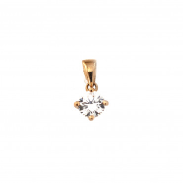 Rose gold zirconia pendant ARC03-11