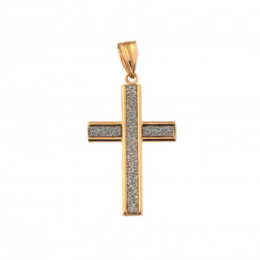 Rose gold cross pendant ARK02-37