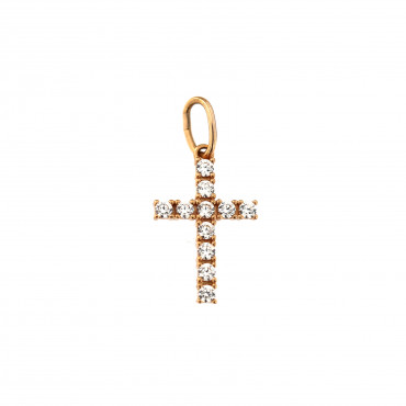 Rose gold cross pendant ARK04-18-1