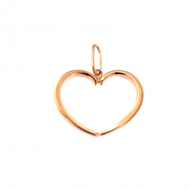 Rose gold heart pendant ARS01-34