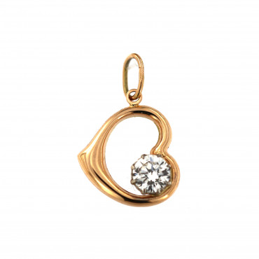 Rose gold heart pendant ARS02-32