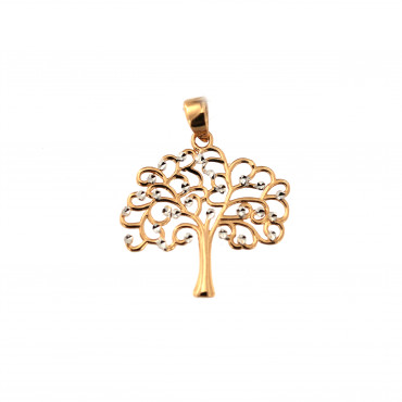 Rose gold tree of life charm ART03-02