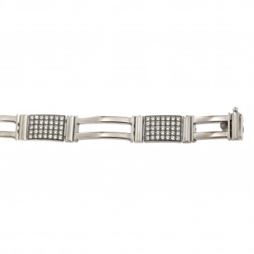 White gold zirconia bracelet EBST01-01-85.00MM