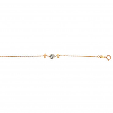 Rose gold anklet EK03-03