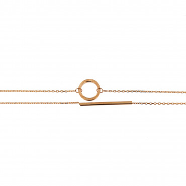 Rose gold anklet EK10-01