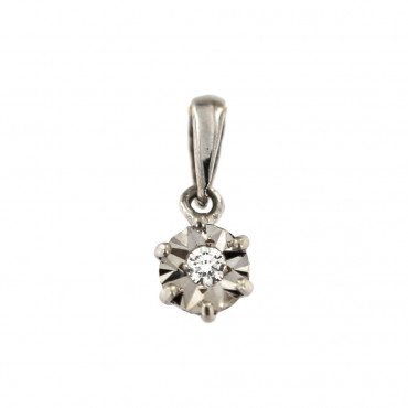Gold pendant with diamond ABBR05-01