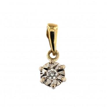 Yellow gold pendant with diamond AGBR07-02
