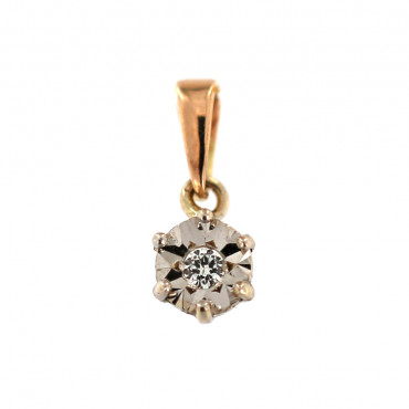 Rose gold pendant w/ diamond ARBR04-03