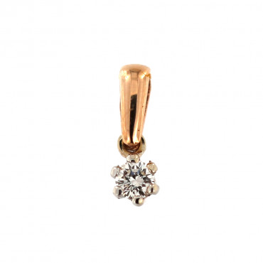 Rose gold pendant w/ diamond ARBR04-04