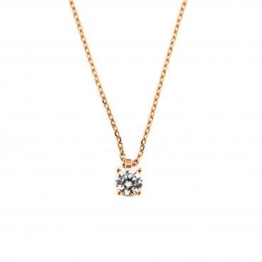 Rose gold pendant necklace CPR01-01-1