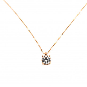 Rose gold pendant necklace CPR01-05