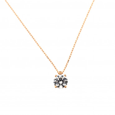 Rose gold pendant necklace CPR01-06
