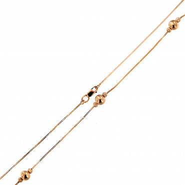 Rose gold pendant necklace CPR24-03