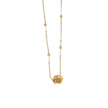 Yellow gold pendant necklace CPG02-04