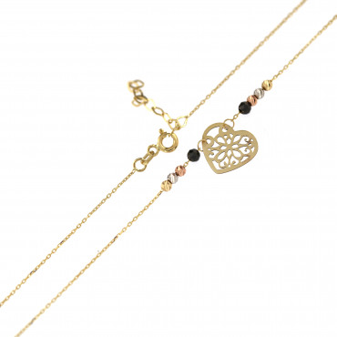 Yellow gold pendant necklace CPG03-07