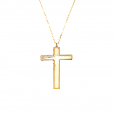 Yellow gold pendant necklace CPG04-01