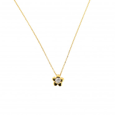 Yellow gold pendant necklace CPG05-02