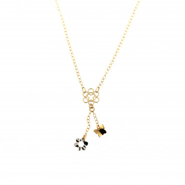 Yellow gold pendant necklace CPG05-03