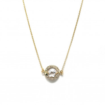 Yellow gold pendant necklace CPG05-04