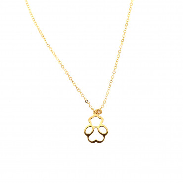 Yellow gold pendant necklace CPG07-01