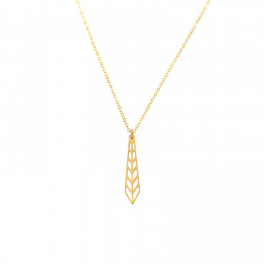 Yellow gold pendant necklace CPG08-01