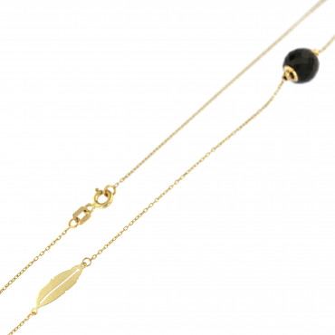 Yellow gold pendant necklace CPG09-02