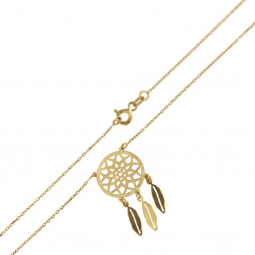 Yellow gold pendant necklace CPG09-04