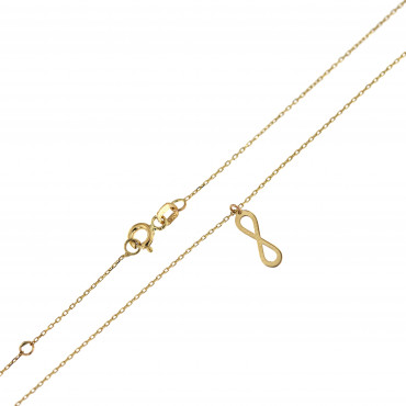 Yellow gold pendant necklace CPG10-03