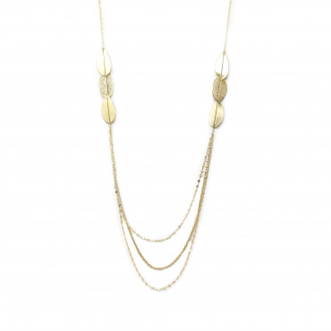 Yellow gold pendant necklace CPG11-02
