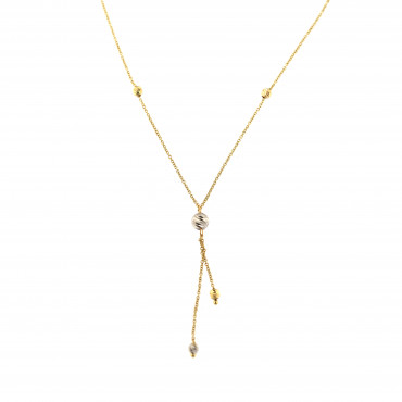Yellow gold pendant necklace CPG11-03