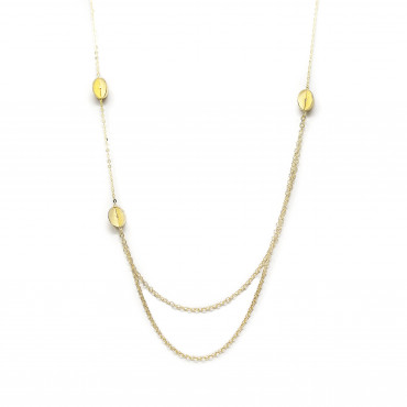 Yellow gold pendant necklace CPG11-04