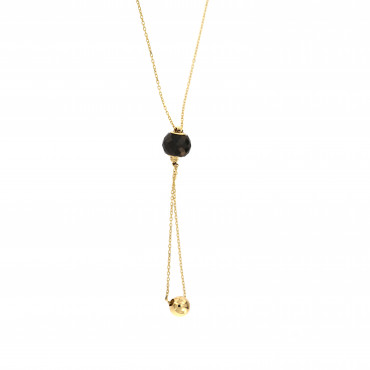 Yellow gold pendant necklace CPG11-05