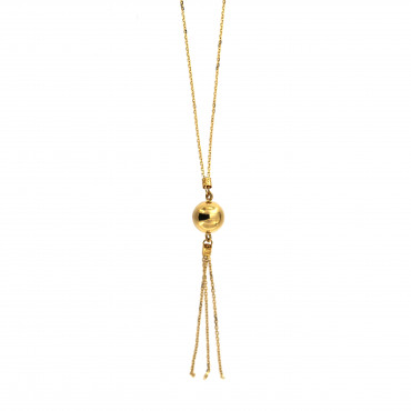 Yellow gold pendant necklace CPG11-06