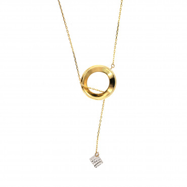 Yellow gold pendant necklace CPG11-07