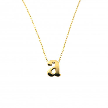 Yellow gold pendant necklace CPG12-A-01