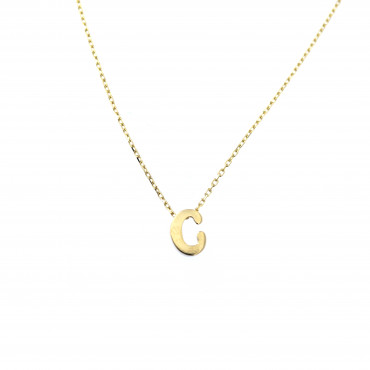 Yellow gold pendant necklace CPG12-C-01